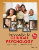 Introduction to Clinical Psychology 9781118360019