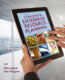Concepts in Enterprise Resource Planning 4th Edition