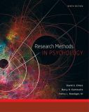 Research Methods in Psychology 9th Edition