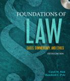 Foundations of Law 9781435440845