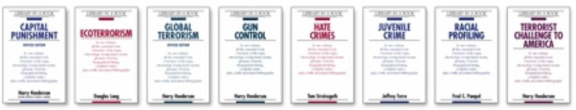 Library in a Book Special Criminology Set 9780816061495