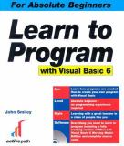 Learn to Program with Visual Basic 6 9781590591512