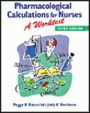 Pharmacological Calculations for Nurses 3rd Edition