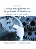 Quality Management for Organizational Excellence 9780133791853