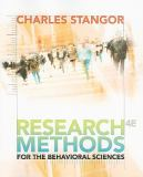 Research Methods for the Behavioral Sciences 4th Edition