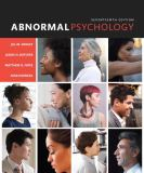 Abnormal Psychology 17th Edition