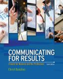 Communicating for Results 9781111842161