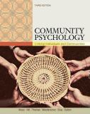 Community Psychology 3rd Edition
