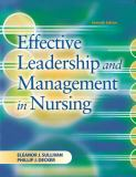 Effective Leadership and Management in Nursing 7th Edition