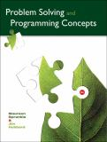 Problem Solving and Programming Concepts 9th Edition