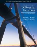 First Course in Differential Equations 5th Edition