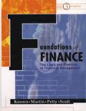 Foundations of Finance 9780130423313