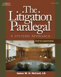 Litigation Paralegal 9781428323445
