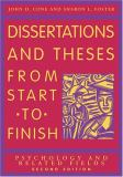Dissertations and Theses from Start to Finish 2nd Edition