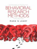 Introduction to Behavioral Research Methods 9780205203987
