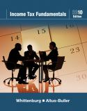 Income Tax Fundamentals 2010 (with TaxCut Tax CD-ROM) 28th Edition