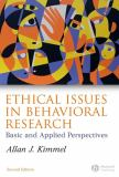 Ethical Issues in Behavioral Research 9781405134392