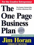 The One Page Business Plan 3rd Edition