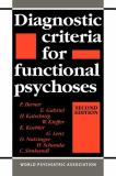Diagnostic Criteria for Functional Psychoses 9780521035125