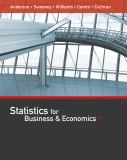 Statistics for Business and Economics 13th Edition