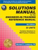 Solutions Manual for the Engineer-in-Training Reference Manual 9780912045405