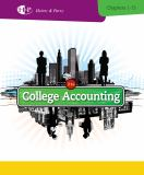 College Accounting, Chapters 1-15 21st Edition
