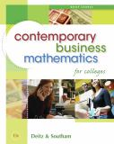 Contemporary Business Mathematics for Colleges, Brief Edition (with CD-ROM) 9780324595475
