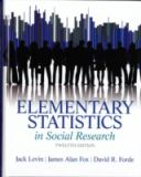 Elementary Statistics in Social Research 12th Edition