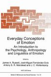 Everyday Conceptions of Emotion 9789048145515