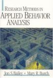 Research Methods in Applied Behavior Analysis 1st Edition
