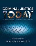 Criminal Justice Today 14th Edition