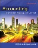 Accounting for Decision Making and Control 8th Edition