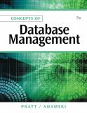 Concepts of Database Management 7th Edition