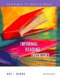 Informal Reading Inventory 9780618495986