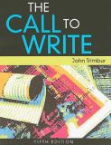 The Call to Write 5th Edition