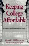 Keeping College Affordable 9780815756415