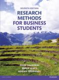 Research Methods for Business Students 7th Edition
