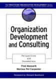 Organization Development and Consulting 9780787946647