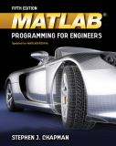 MATLAB Programming for Engineers 5th Edition