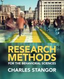 Research Methods for the Behavioral Sciences 5th Edition