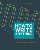 How to Write Anything 3rd Edition