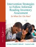 Intervention Strategies to Follow Informal Reading Inventory Assessment 3rd Edition