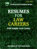 Resumes for Law Careers 9780658017230
