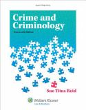 Crime and Criminology 14th Edition