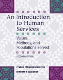 An Introduction to Human Services 2nd Edition