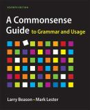 A Commonsense Guide to Grammar and Usage 7th Edition
