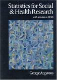 Statistics for Social and Health Research 9780761968184