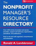 The Nonprofit Manager's Resource Directory 9780471148395