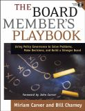 The Board Member's Playbook 9780787968403