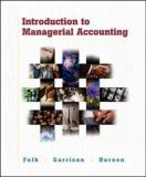 Introduction to Managerial Accounting Package 9780072468441